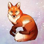 Red Fox - charm design