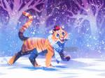 Tiger's new friend by ShinePawArt