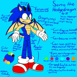 Sonic the Hedgedragon (New AU Reference) by MobianCanine