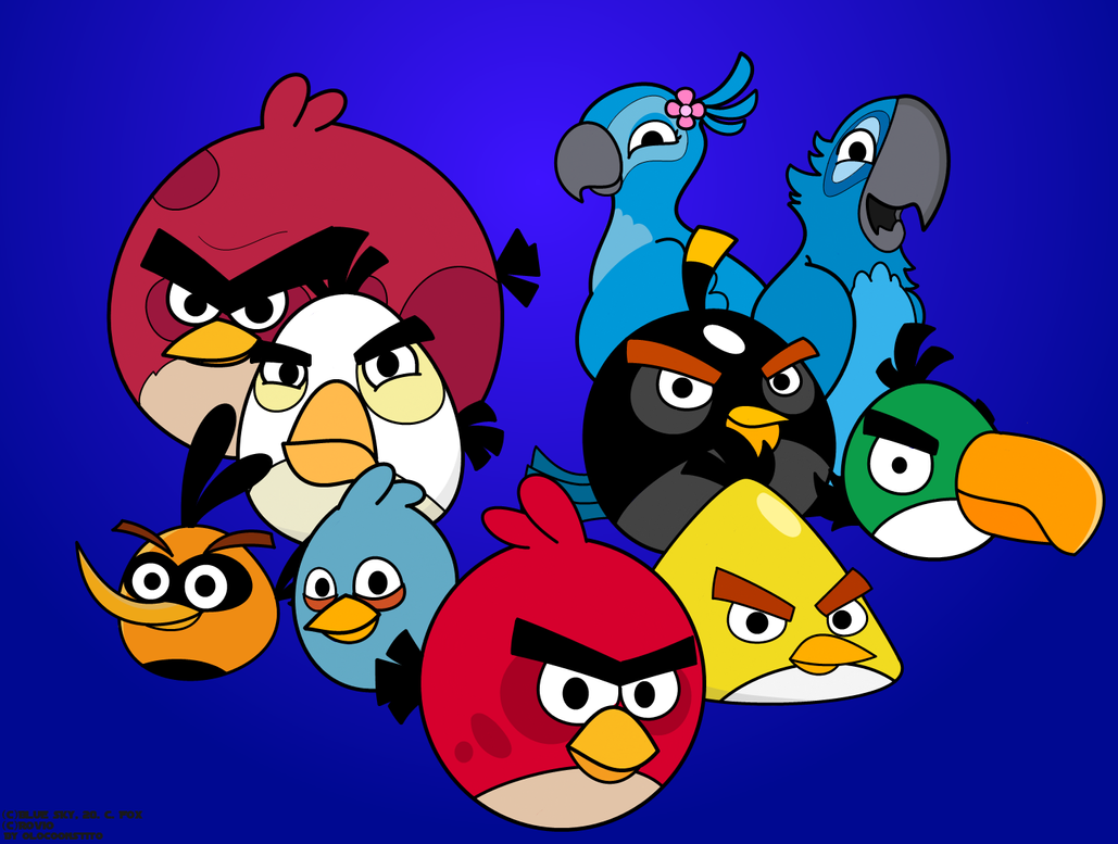 23 Awesome Angry Birds Wallpaper Design Urge