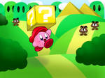 Kirby in Mario World