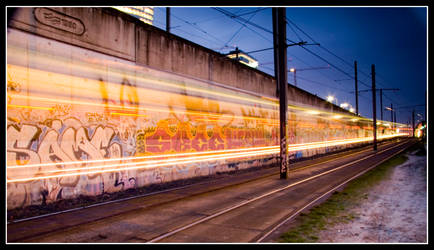 streaky graffiti by sassaputzin