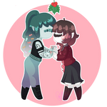 Oh, Ho, the Mistletoe! [C] by PuffinBunnie
