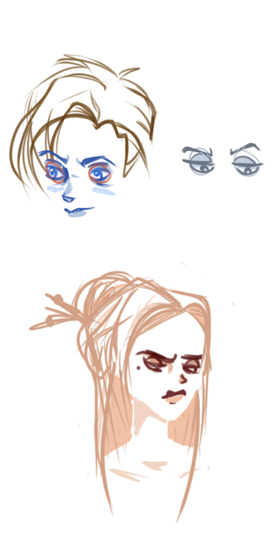 Viria style study Hair and Eyes by AliciaMarieLivs on ...