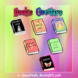 Books Overlays PNG - Overlays de Libros PNG by N-itneverends