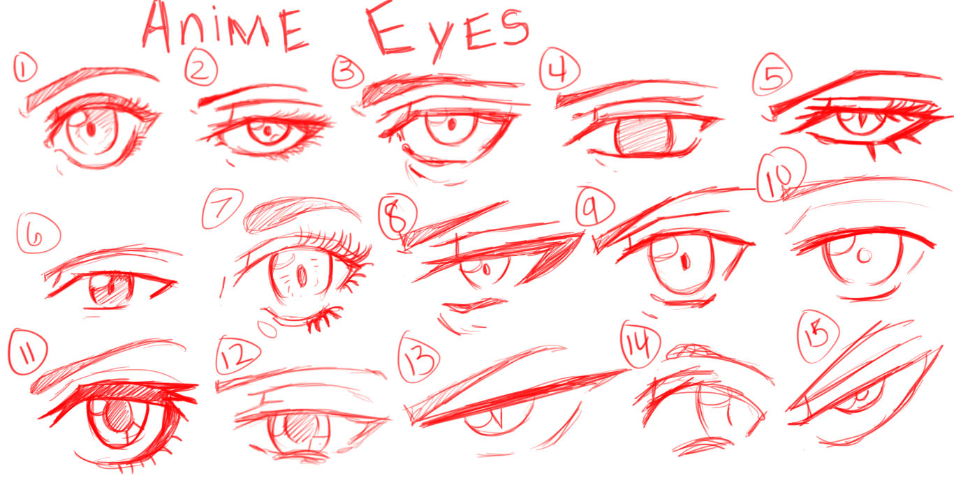 how to make anime eyes