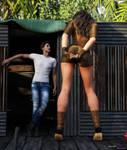 A guy in the jungle - Bryanna
