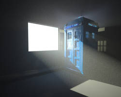 TARDIS in a room by TheBigDaveC