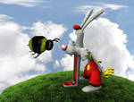Mr Rabbit and Hugo Bumble by TheBigDaveC