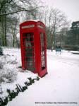 Wintery Enfield Telephone Box