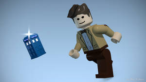 Lego Doctor Who and TARDIS by TheBigDaveC