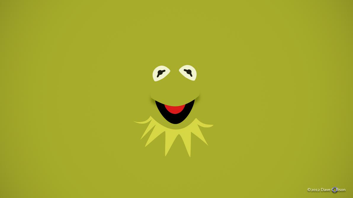 Kermit the Frog Minimalist Wallpaper by TheBigDaveC