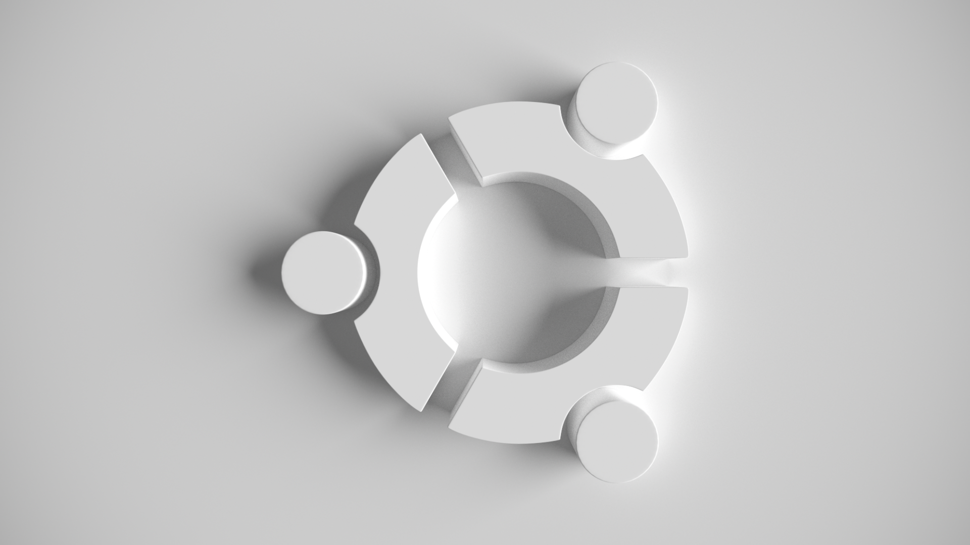 Ubuntu white wallpaper by thebigdavec on deviantart for Wallpaper 3d white