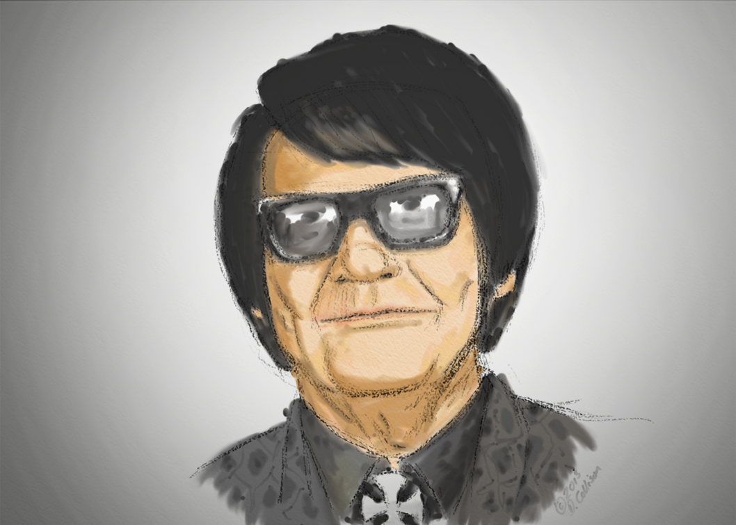 Roy orbison watercolour by thebigdavec on deviantart