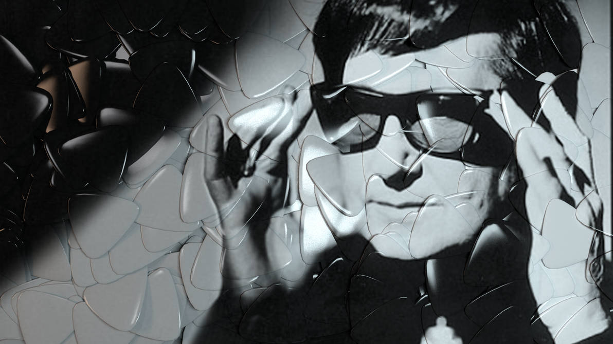 Roy Orbison in Plectrums by TheBigDaveC