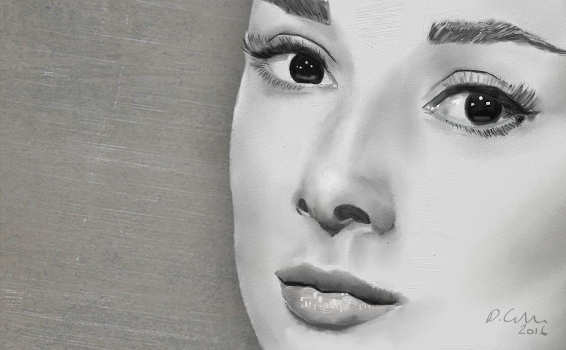 Audrey Hepburn Wallpaper by TheBigDaveC