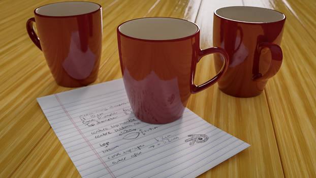 3 Mugs plus Instructions