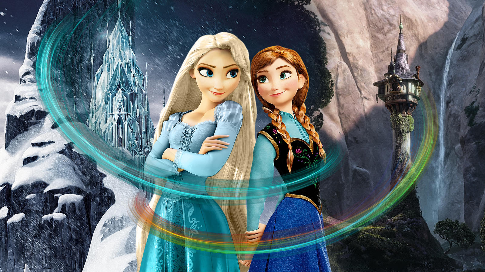 Frozen and tangled combined