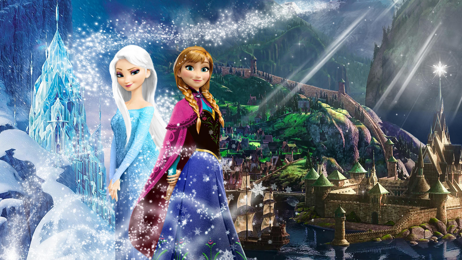 frozen - 1920x1080 (elsa and anna of arendelle)muehlich86 on