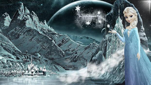 Frozen - 1920x1080 (Elsa Snow Night 3)