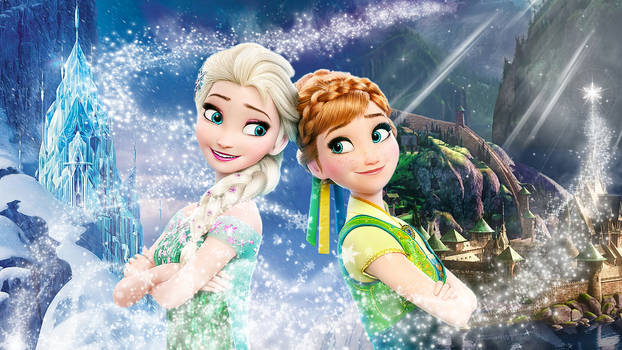 Frozen - 1920x1080 (Elsa and Anna of Arendelle 3)