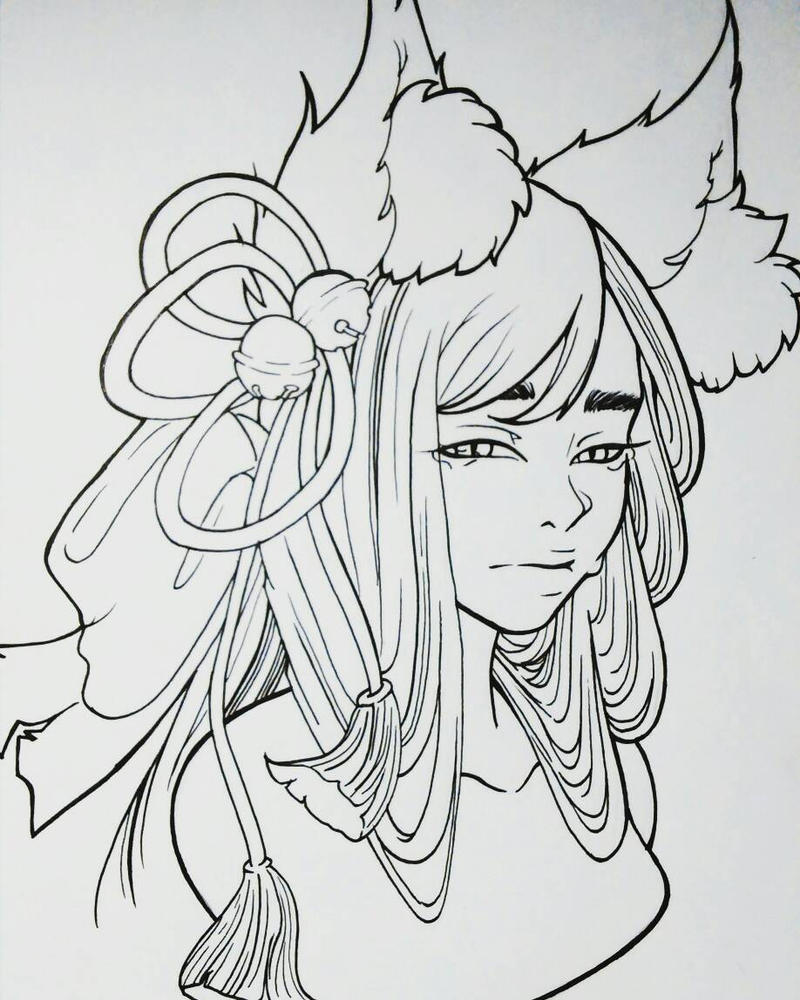 Line Work Art : Fox line work by lele halo on deviantart