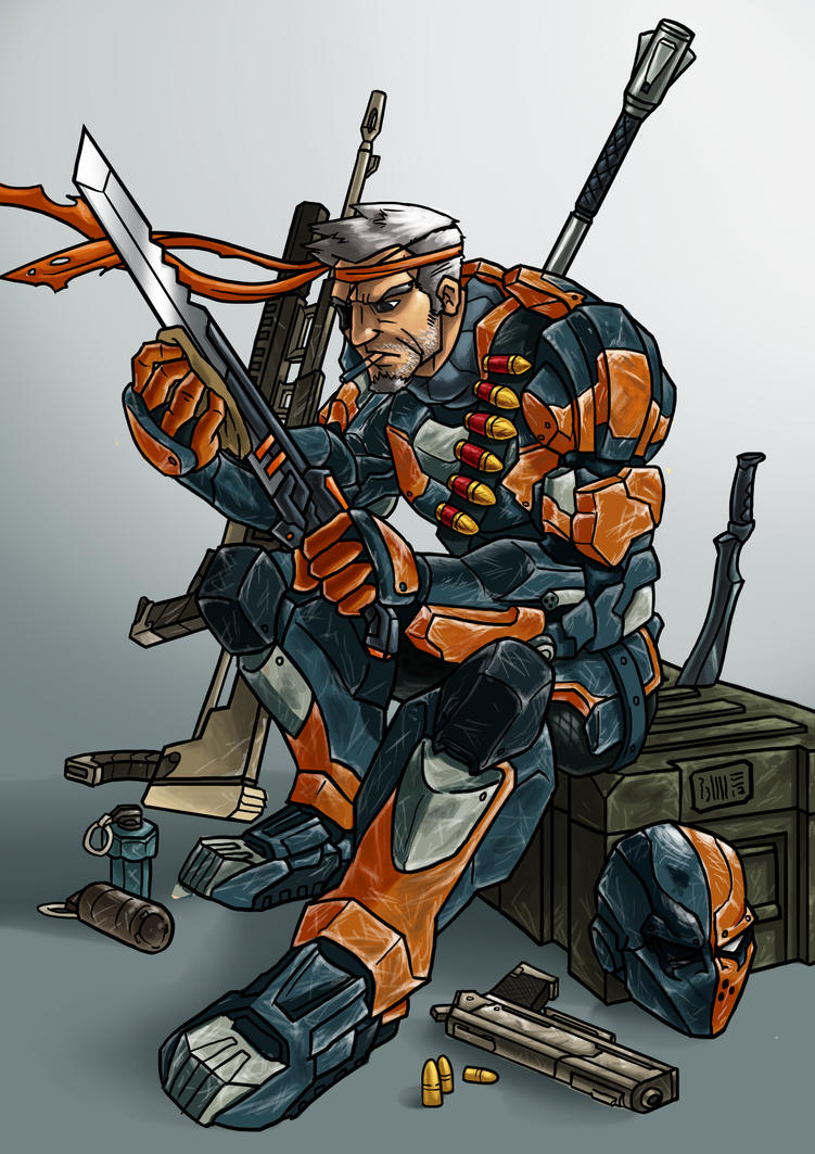 Slade Wilson aka Deathstroke- Colored by Riverlimzhichuan