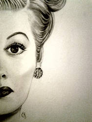 Lucille  in pencil by Sarahsdaughter