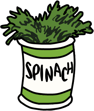 walfas custom props popeyes spinach by grayfox5000 on
