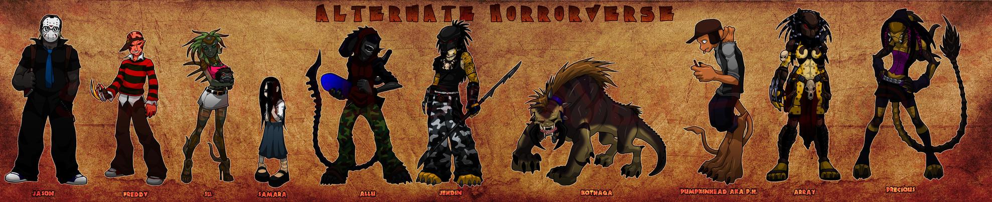 Alternate Horrorverse by AstroZerk