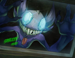 13 ghost of pokemon - SABLEYE by AstroZerk