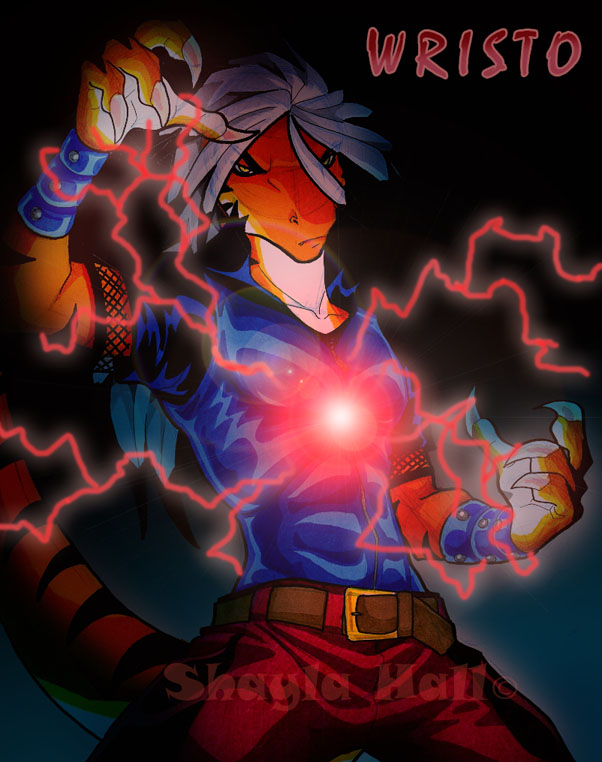 red lightning by AstroZerk