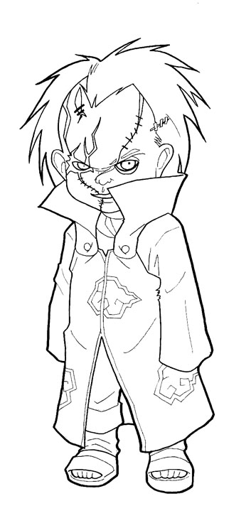 chucky coloring pages to color - photo#32