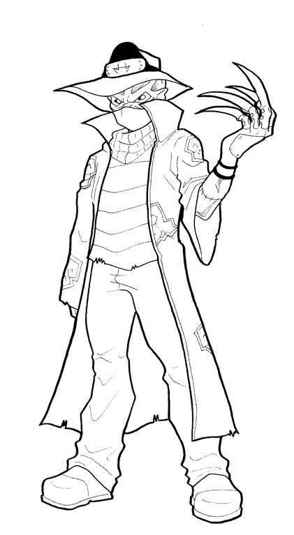 Freddy kruger coloring pages ~ Kakuzu-freddy krueger WIP by AstroZerk on DeviantArt