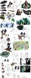 Pirates of the Caribbean sketchdump by CrocInCrocs
