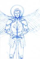 Lucifer as a warrior by CrocInCrocs