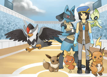 Me as a Pokemon Trainer and Pokemon Champion by YuGiOh5DsDuelist