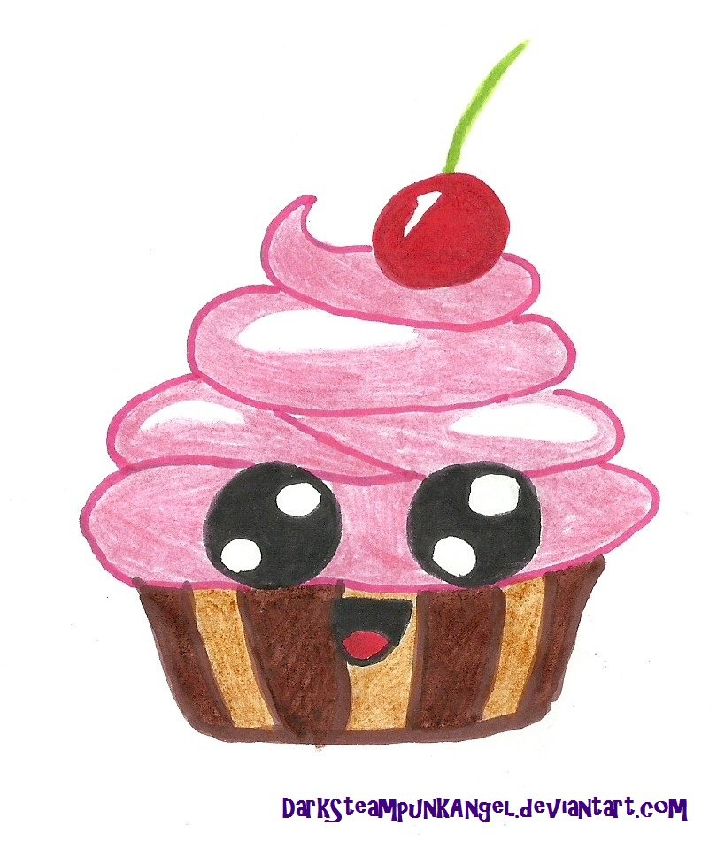 Cute anime cupcakes drawings the image for Cute muffin drawing