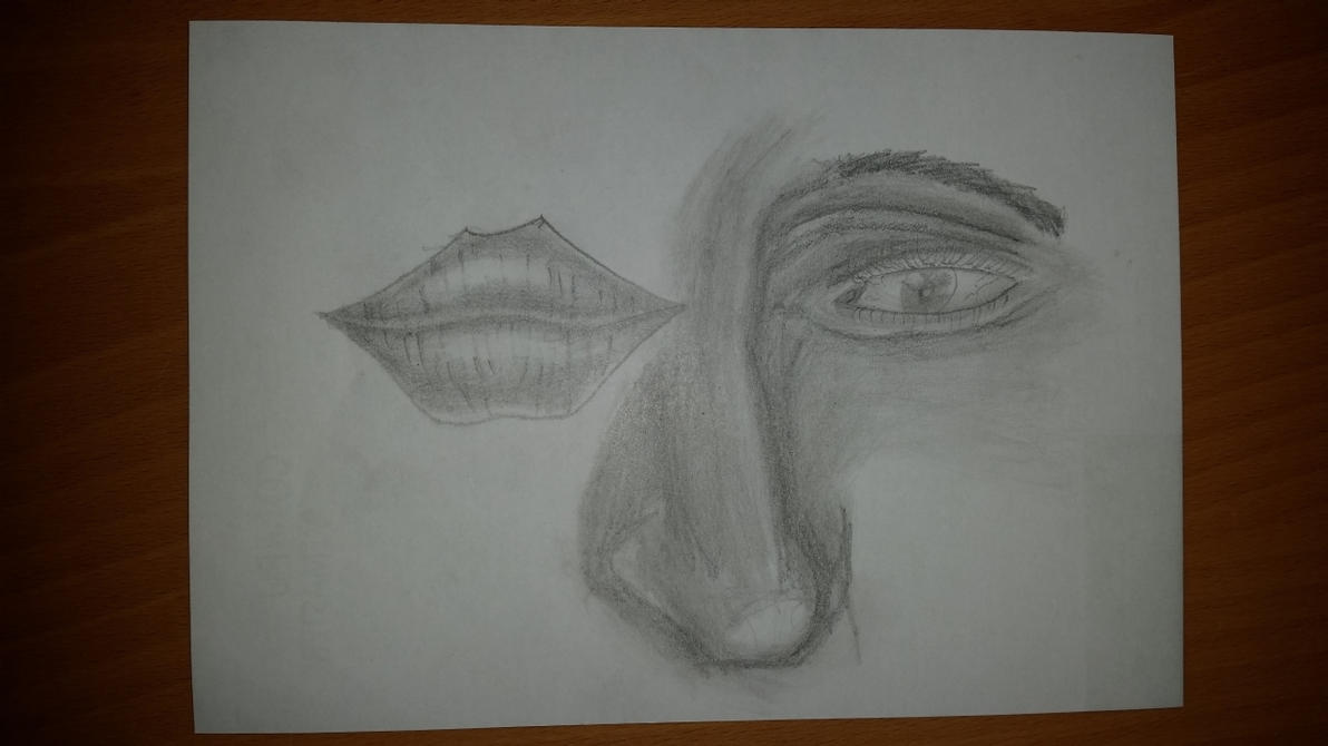 Distorted face by photograph1c