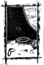 Inktober 2017 #1 - On the moon by photograph1c