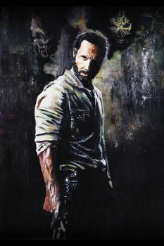 Original Walking Dead Rick Grimes Painting
