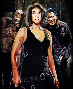 Original Walking Dead Maggie Greene Painting