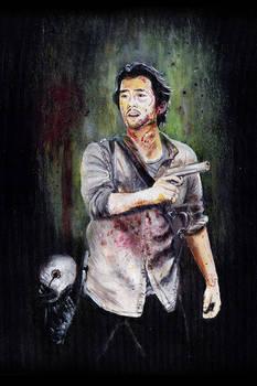 Original Walking Dead Glenn Rhee Painting