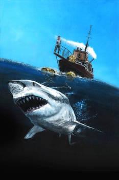 Jaws Original painting