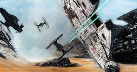 Millennium Falcon Original Painting