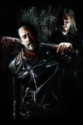 Negan Walking Dead Original painting