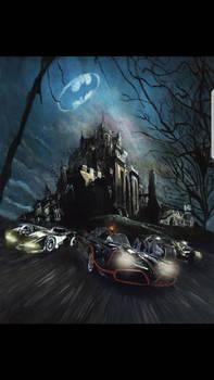 Batmobiles Original painting