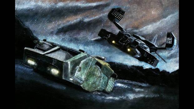 Aliens Original painting