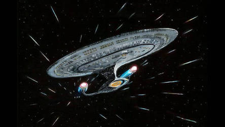 Star Trek Enterprise D Original painting