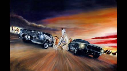 Bullitt/Gone in 60 seconds Original painting